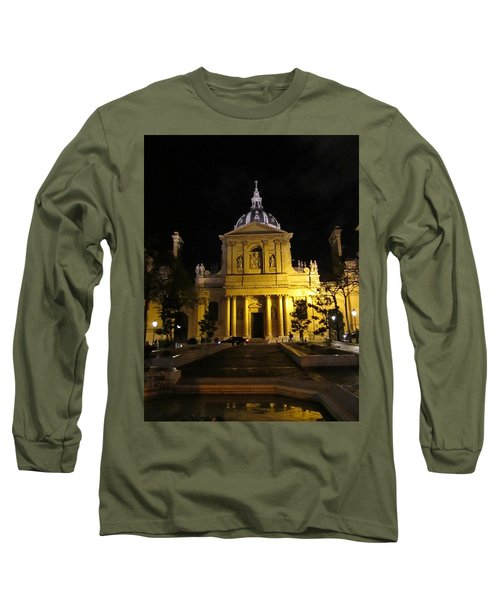 Long Sleeve T-Shirt featuring the photograph Sorbonne Night by Christopher Kirby