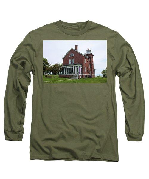 South Bass Island Lighthouse- Horizontal Long Sleeve T-Shirt by Michiale Schneider