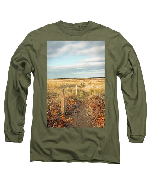 Long Sleeve T-Shirt featuring the photograph South Cape Beach Trail by Brooke T Ryan