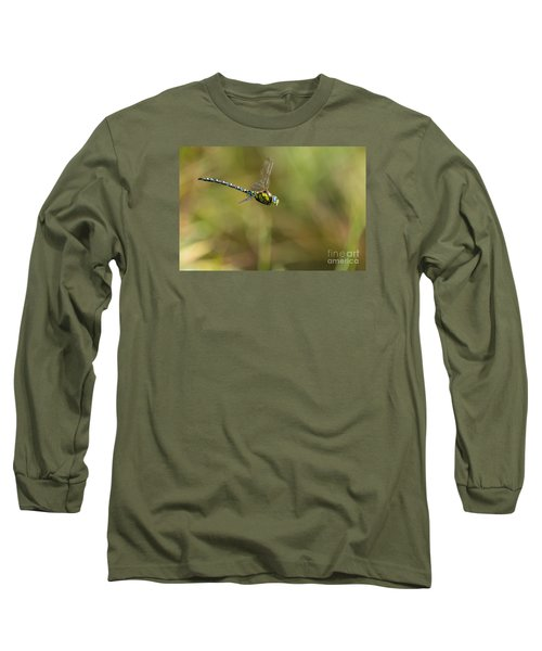 Long Sleeve T-Shirt featuring the photograph Southern Blue Hawker Male by Jivko Nakev