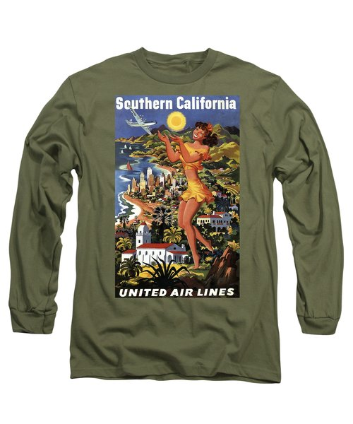 Southern California Vintage Travel 1950's Long Sleeve T-Shirt