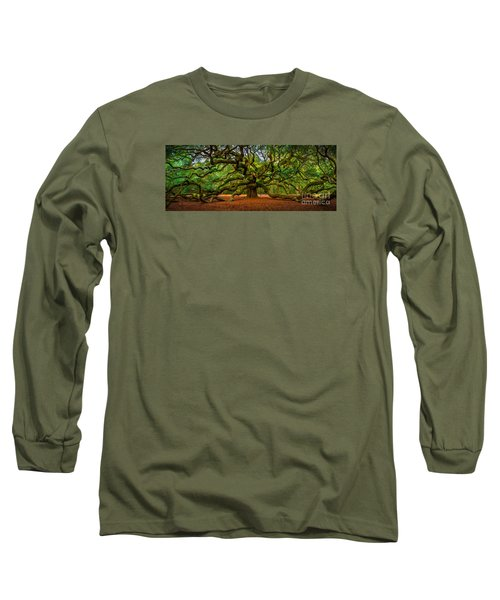 Angel Oak In Charleston Long Sleeve T-Shirt by David Smith