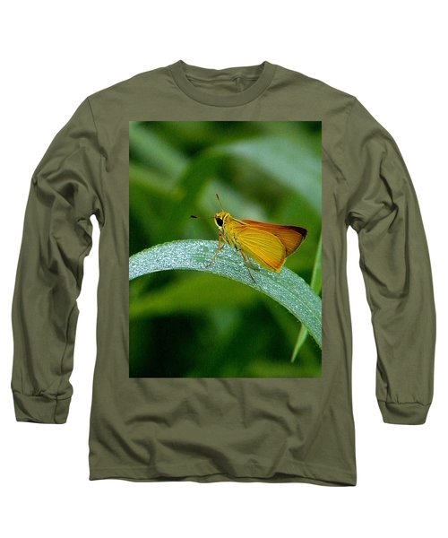Southern Skipperling Butterfly  000 Long Sleeve T-Shirt by Chris Mercer