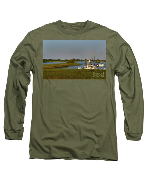 Southport Marina Sunrise Long Sleeve T-Shirt