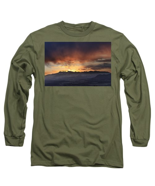 Southwest Colorado Sunset Long Sleeve T-Shirt by John Zeising