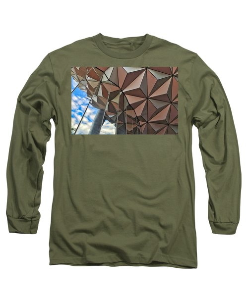 Spaceship Earth And Sky Long Sleeve T-Shirt