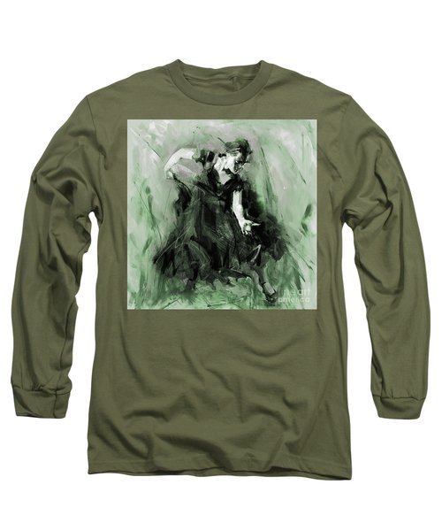 Long Sleeve T-Shirt featuring the painting Spanish Flamenco Dancer by Gull G