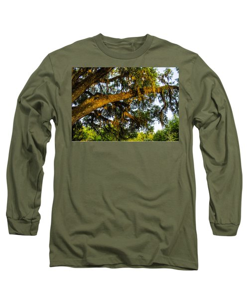 Long Sleeve T-Shirt featuring the photograph Spanish Moss In The Gloaming by Deborah Smolinske