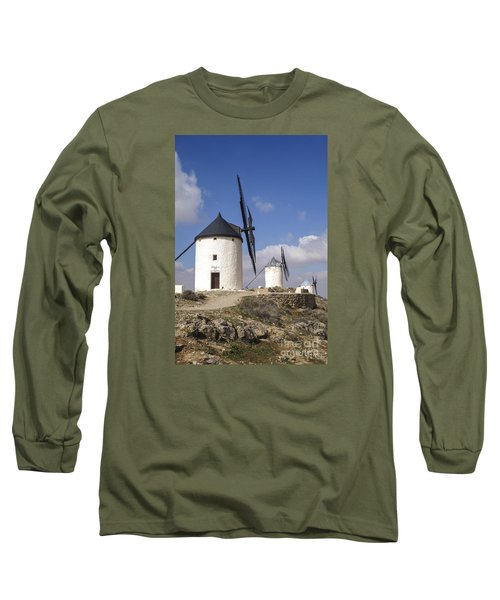 Spanish Windmills In The Province Of Toledo, Long Sleeve T-Shirt by Perry Van Munster