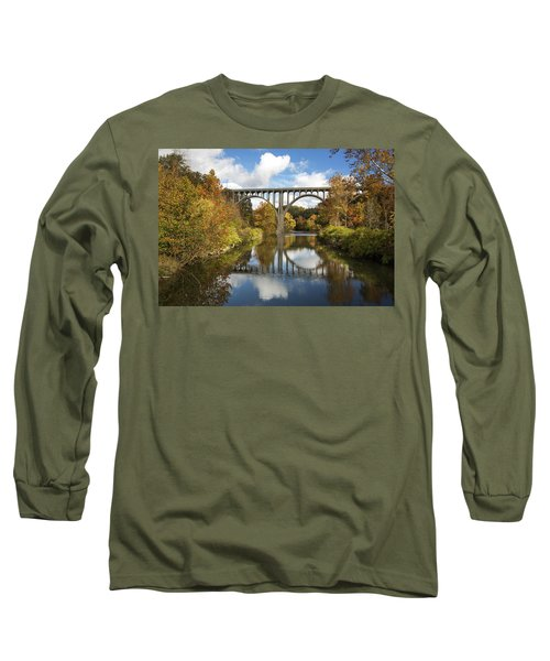 Spanning The Cuyahoga River Long Sleeve T-Shirt