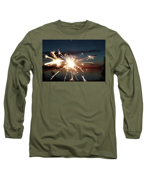 Sparklers After Sunset Long Sleeve T-Shirt by Kelly Hazel