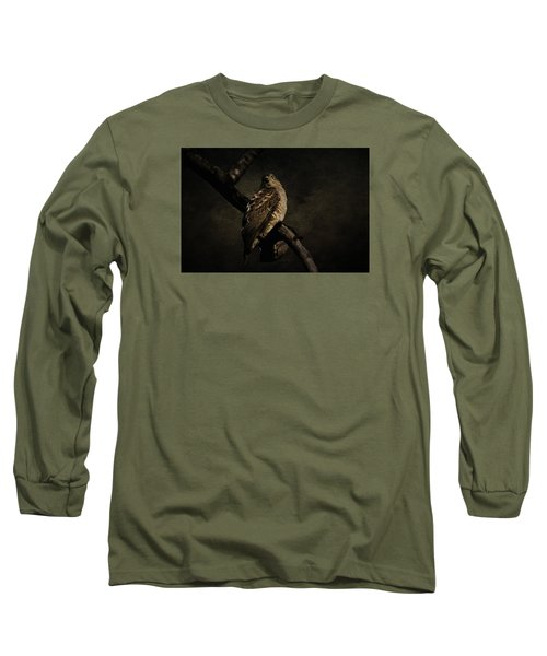 Sparrow Hawk Long Sleeve T-Shirt by Manjot Singh Sachdeva