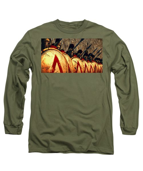Spartan Army - Wall Of Spears Long Sleeve T-Shirt