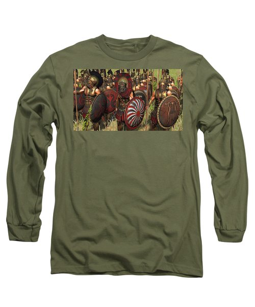 Spartan Warriors Before The Battle Long Sleeve T-Shirt