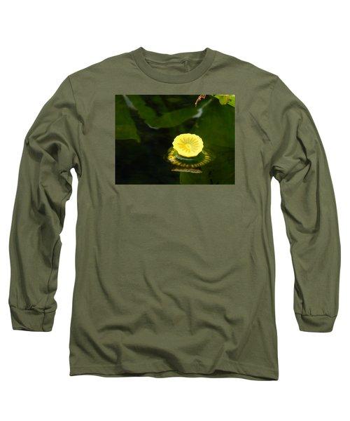Spatterdock Reflections Long Sleeve T-Shirt by Warren Thompson