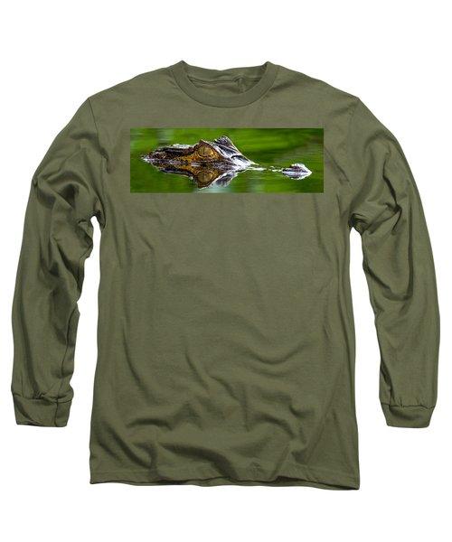 Spectacled Caiman Caiman Crocodilus Long Sleeve T-Shirt