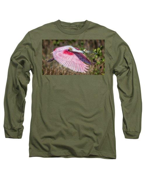 Spoonbill Winging It Long Sleeve T-Shirt