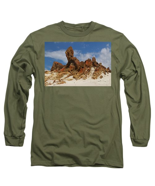 Long Sleeve T-Shirt featuring the photograph Sphinx Of South Australia by Stephen Mitchell