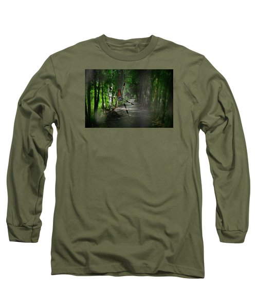 Long Sleeve T-Shirt featuring the photograph Spider Road by Harry Spitz
