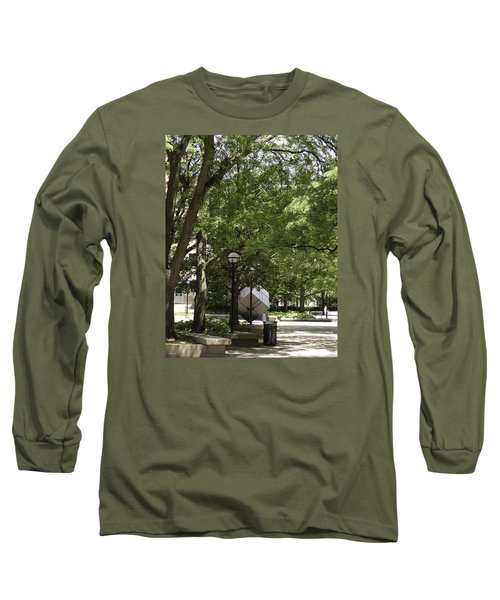 Spinning Cube On Campus Long Sleeve T-Shirt