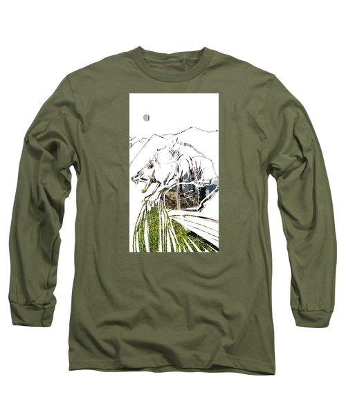 Spirit Animal . Wolverine Long Sleeve T-Shirt