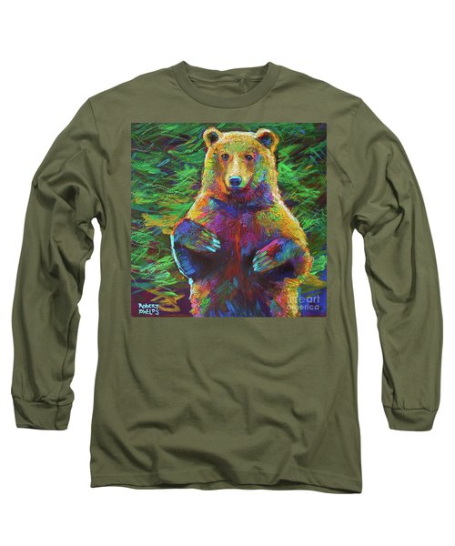Long Sleeve T-Shirt featuring the painting Spirit Bear by Robert Phelps