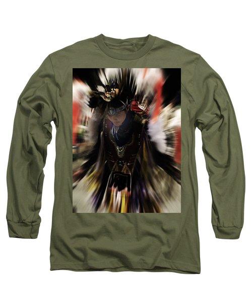 Spirited Dancer Long Sleeve T-Shirt by Audrey Robillard