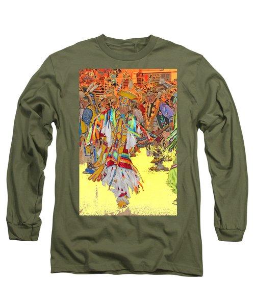 Spirited Moves Long Sleeve T-Shirt by Audrey Robillard