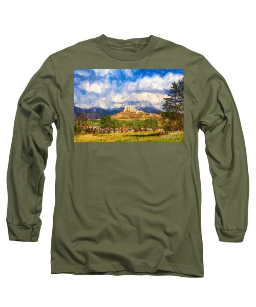 Castle Above The Village Long Sleeve T-Shirt
