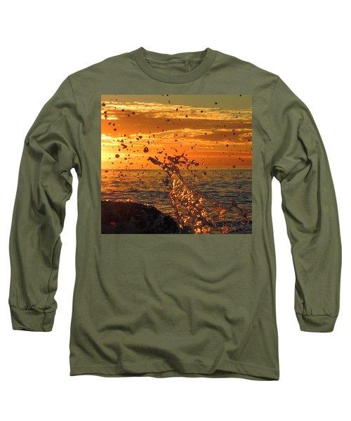 Long Sleeve T-Shirt featuring the photograph Splash by Linda Hollis