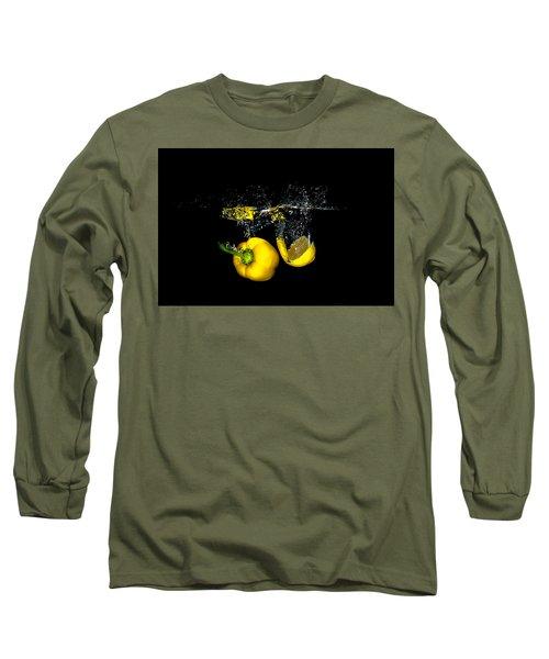 Splash Of  Pepper And Lemon Long Sleeve T-Shirt