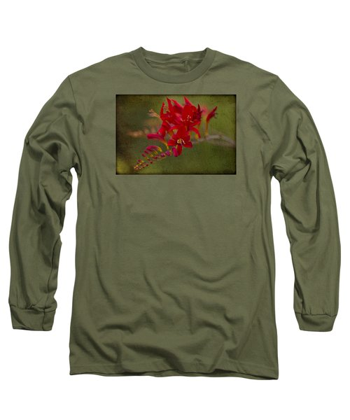 Splash Of Red. Long Sleeve T-Shirt by Clare Bambers