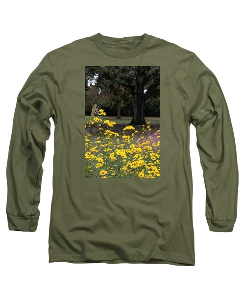 Splashes Of Yellow Long Sleeve T-Shirt by Suzanne Gaff