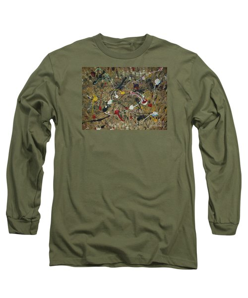 Long Sleeve T-Shirt featuring the painting Splattered by Jacqueline Athmann