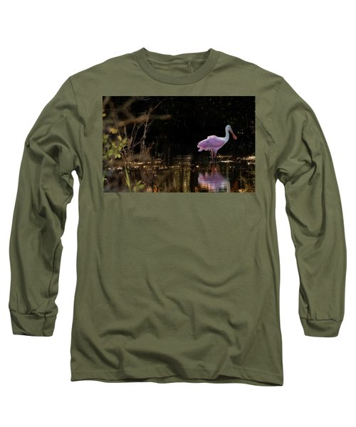 Spoonbill Fishing For Supper Long Sleeve T-Shirt
