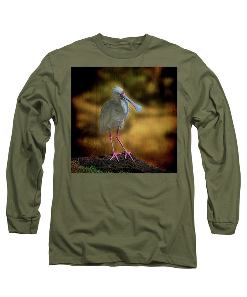 Long Sleeve T-Shirt featuring the photograph Spoonbill by Lewis Mann