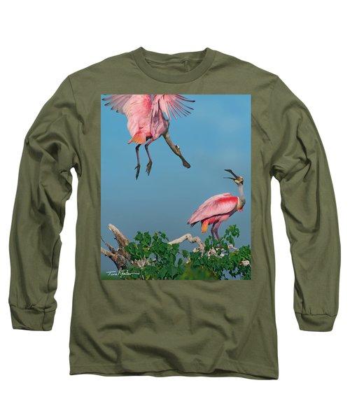 Spoonbills Greeting Long Sleeve T-Shirt