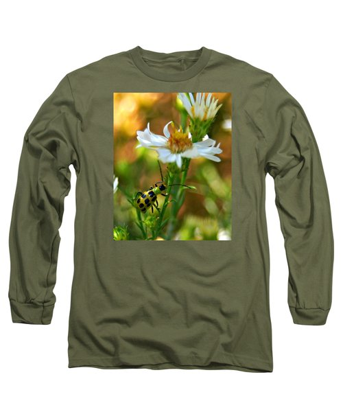 Spotted Cucumber Beetle On Aster Long Sleeve T-Shirt