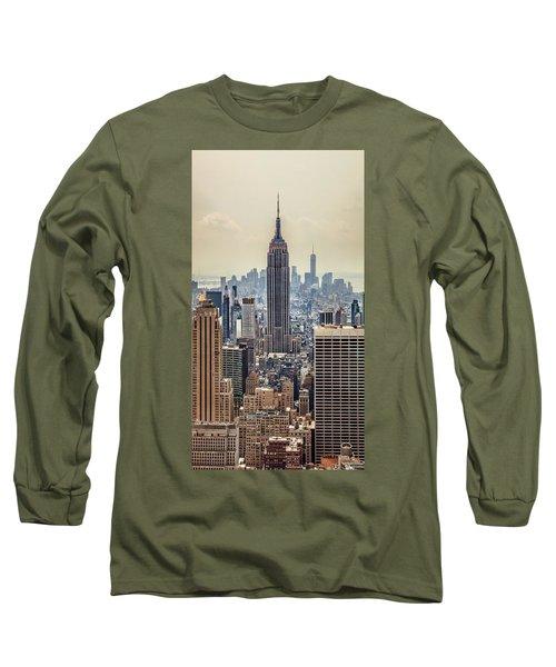 Sprawling Urban Jungle Long Sleeve T-Shirt by Az Jackson