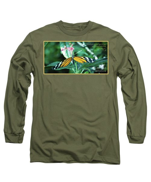 Spread Your Wings Long Sleeve T-Shirt by Deborah Klubertanz