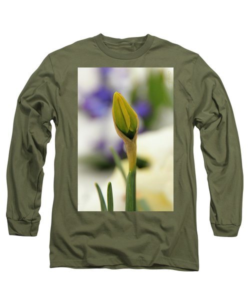 Long Sleeve T-Shirt featuring the photograph Spring Blooms In The Snow by Chris Berry