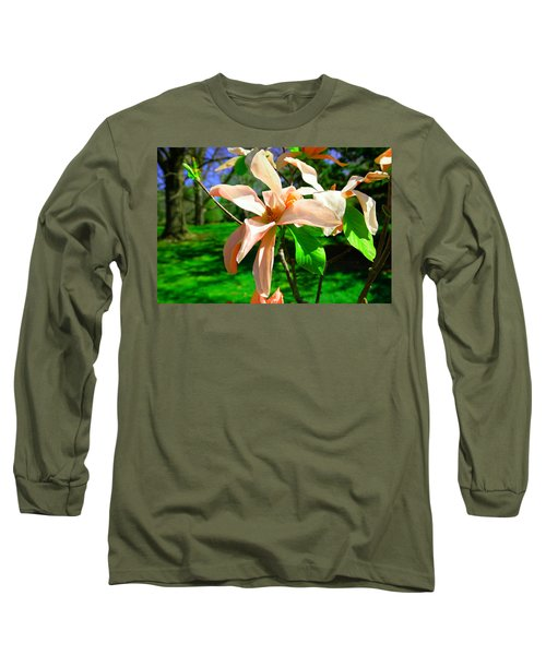 Long Sleeve T-Shirt featuring the photograph Spring Blossom Open Wide by Jeff Swan