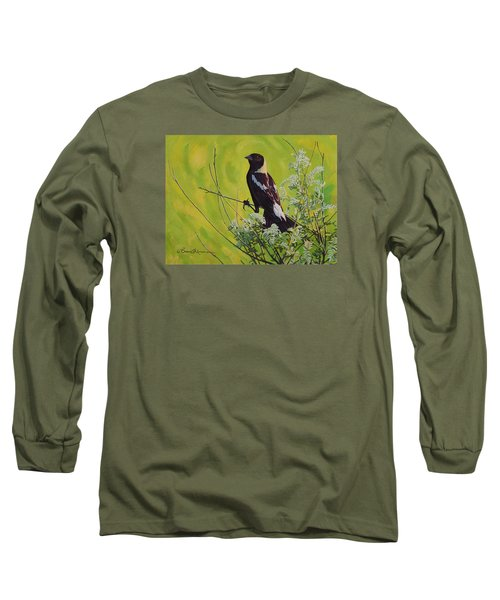 Spring Bobolink Long Sleeve T-Shirt by Bruce Morrison