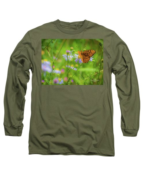 Spring Butterfly Long Sleeve T-Shirt