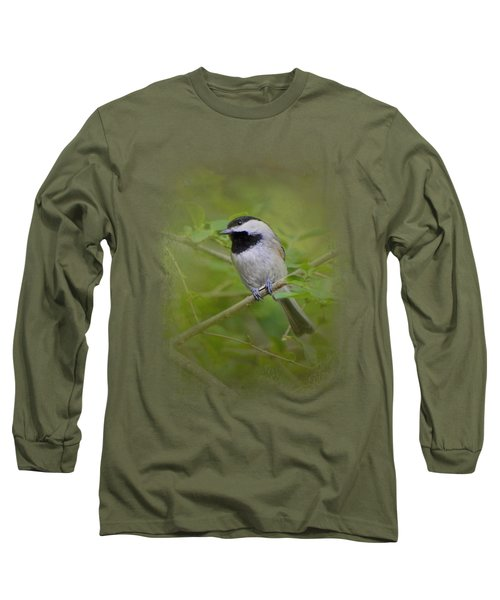 Spring Chickadee Long Sleeve T-Shirt by Jai Johnson