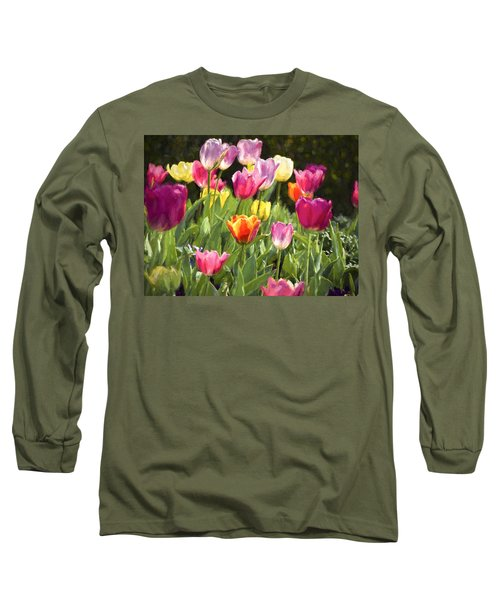Spring Colors Long Sleeve T-Shirt by Penny Lisowski