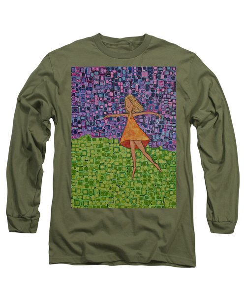 Long Sleeve T-Shirt featuring the painting Spring by Donna Howard