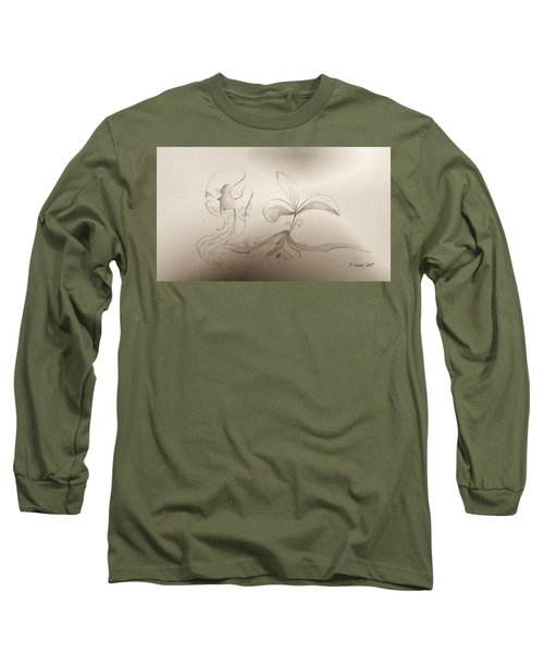 Long Sleeve T-Shirt featuring the mixed media Spring Feelings 2 by Denise Fulmer