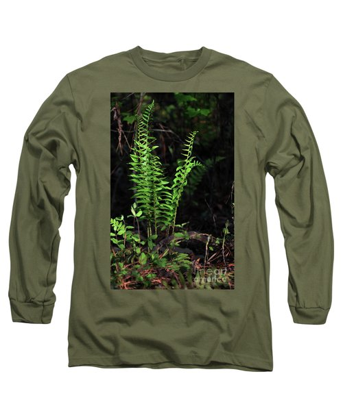 Long Sleeve T-Shirt featuring the photograph Spring Ferns by Skip Willits