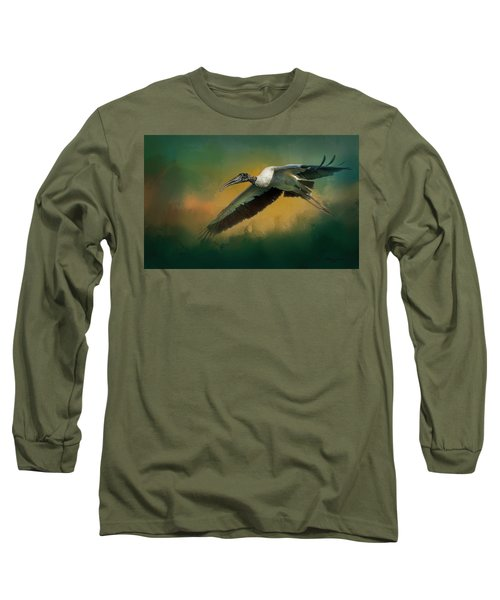 Long Sleeve T-Shirt featuring the photograph Spring Flight by Marvin Spates